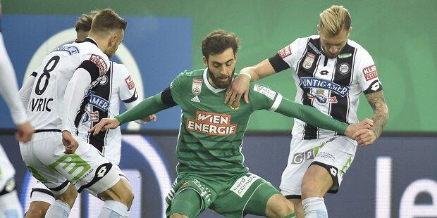 1:1 - Rapid: Last-Minute-Tor gegen Sturm