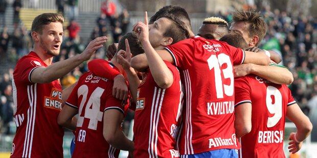 4:2! Rapid siegt klar in Mattersburg