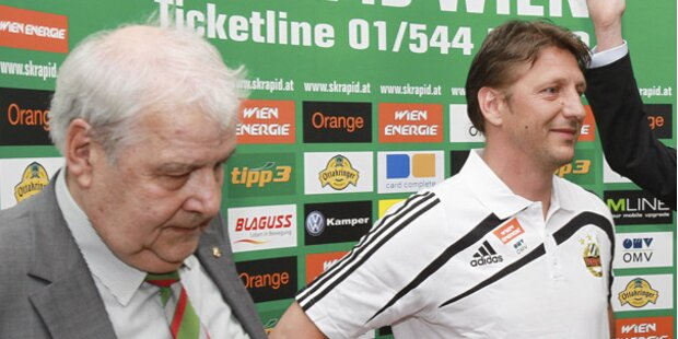 PK: Rapid-Boss Edlinger erklärt Rauswurf