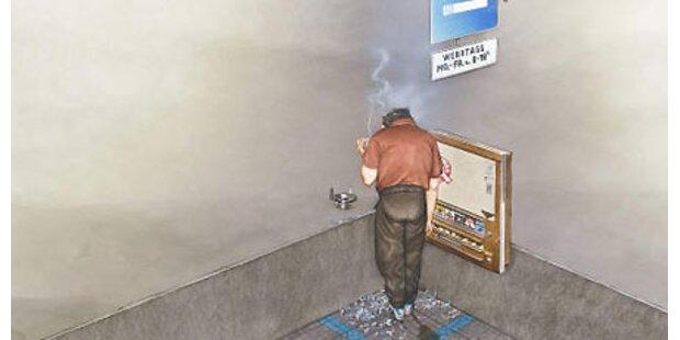 Karikaturmuseum - Zigarettensucht-Schau