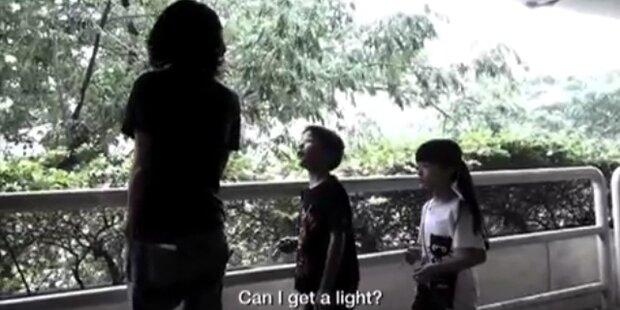 Kinder werben für Anti-Raucher-Spot