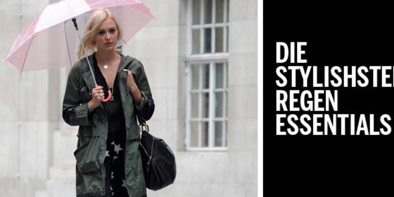 Die stylishsten Regen-Essentials