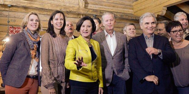 SPÖ und ÖVP wollen wieder Harmonie schaffen.