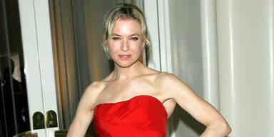 Renée Zellweger im roten Abendkleid