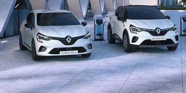 Captur Plug-in-Hybrid und Clio Hybrid starten