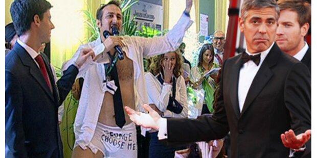 Reporter strippt für George Clooney
