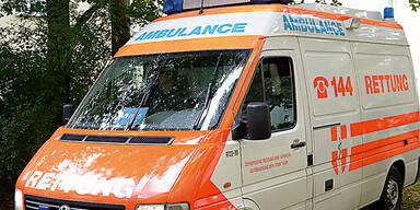 Alko-Lenker krachte gegen Rettungswagen: 3 Verletzte