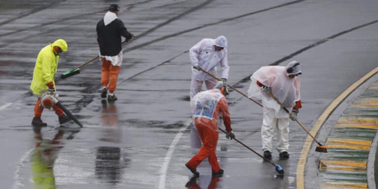 Qualifying wegen Regens abgebrochen