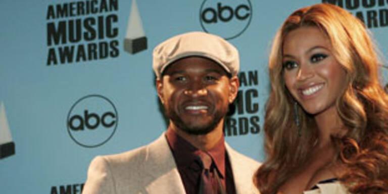 Usher (l.) und Sängerin Beyoncé bei den ABC-American Music Awards
