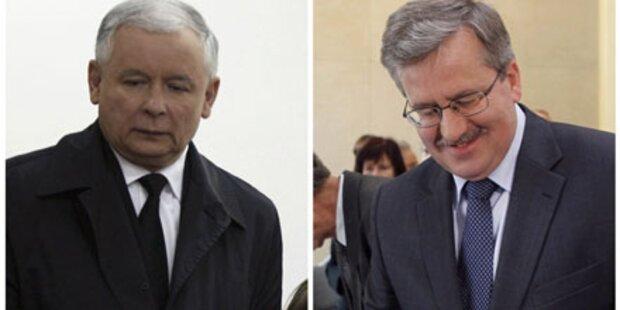 Komorowski und Kaczynski in Stichwahl