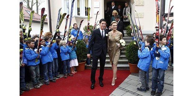 Maria Riesch hat in Garmisch geheiratet