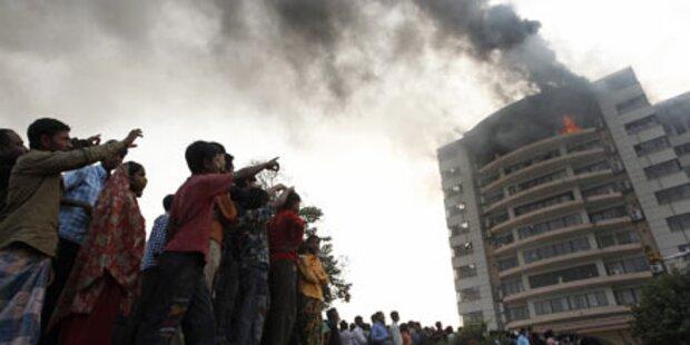 22 Tote bei Brand in Textilfabrik