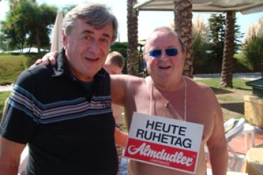 Richard Lugner & Fan in Antalya