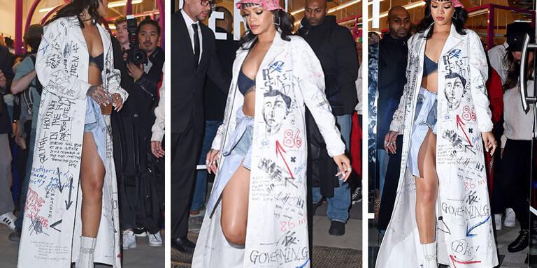 Das Anziehen vergessen, Rihanna?