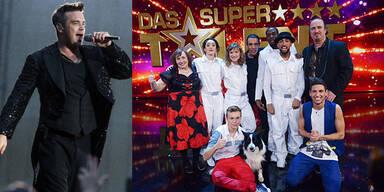 Robbie Williams und Supertalent-Finalisten
