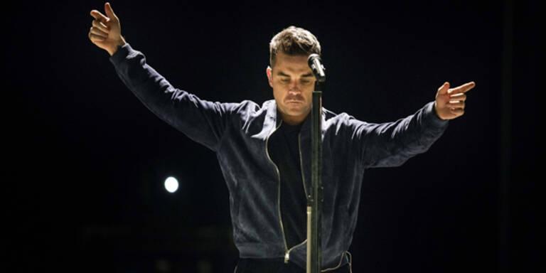 Robbie Williams wieder als Swinger unterwegs
