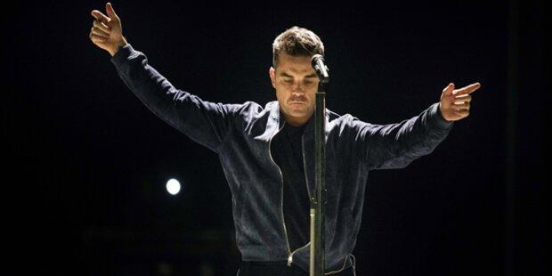 Robbie Williams zurück auf der Show-Bühne