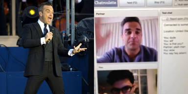 Robbie Williams singt für Fan im Chatroom