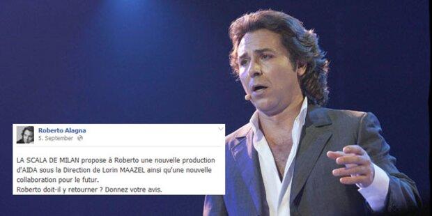Alagna befragt Facebook über Scala-Rückkehr