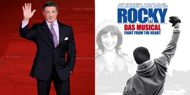Sly kommt zur Rocky-Musical Premiere