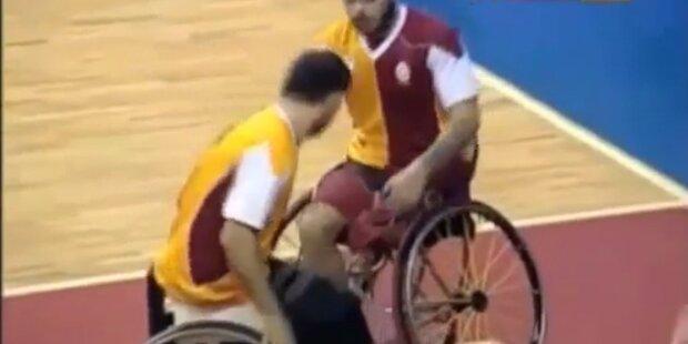 Ausschreitungen beim Rollstuhlbasketball