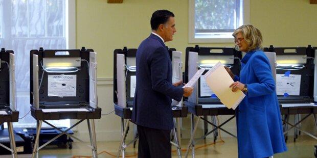 Hier gibt Romney seine Stimme ab