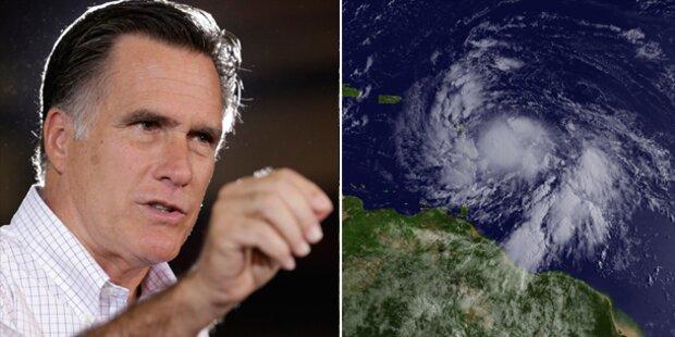 Tropensturm bedroht Romneys Parteitag
