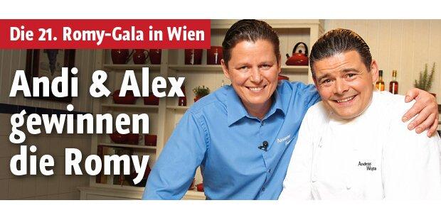 Andi & Alex als Gewinner der Romy-Gala