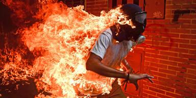 Brennender Venezolaner: Preis für Foto