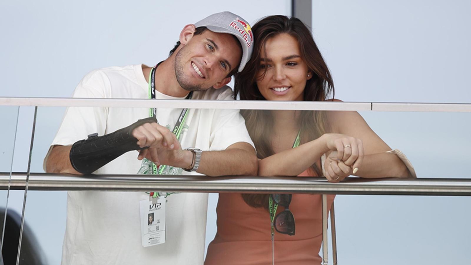 Dominic Thiem mit niedlicher, Freundin Lili Paul-Roncalli