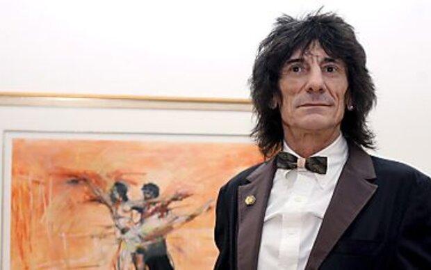Rocker Ronnie Wood als Mode-Designer