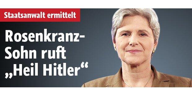 Rosenkranz-Sohn mit Hitlergruß