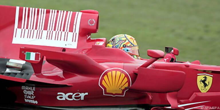 Rossi absolvierte bereits gute Tests im Ferrari