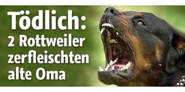 2 Rottweiler zerfleischten eine Frau