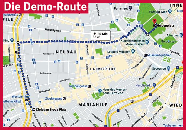 Die Demo Route Regierung