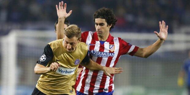 0:3! Austria gegen Atletico ohne Chance