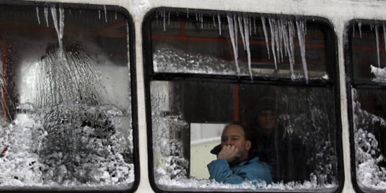 Tödliche Kälte in Osteuropa