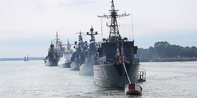 Russland verlegt Kriegsschiffe an Grenze der Ukraine