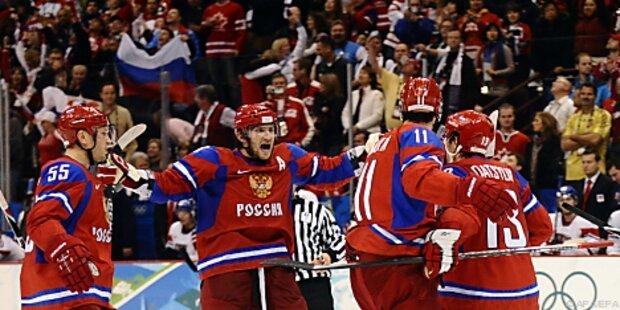 Russlands Eishockeyteam holte sich Gruppensieg