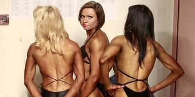 Russlands braune Bodybuilderinnen