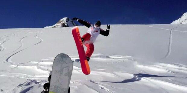 Traumwetter in Sölden für Snowboarder