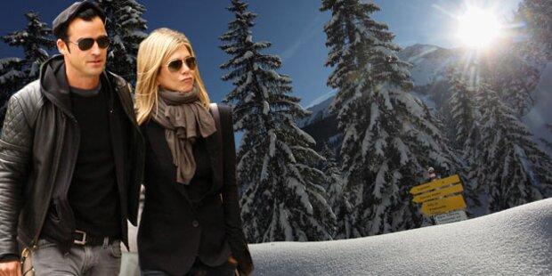 Aniston: Kuscheltage in den Bergen