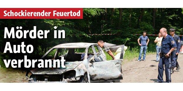 Schockierend: Mörder in Auto verbrannt