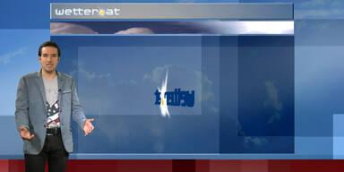 Das Wetter am Nachmittag: Dichte Wolkendecke über Österreich