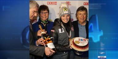 So feierte Anna Fenninger ihren Super G-Triumph
