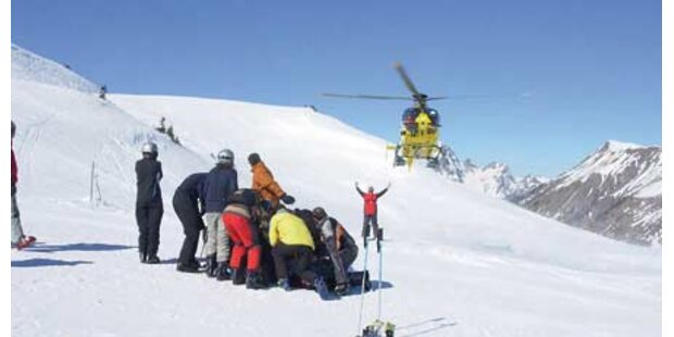 Stuhleck: Skifahrer schwer gestürzt