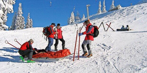 Alko-Skifahrerin baut Horrorcrash