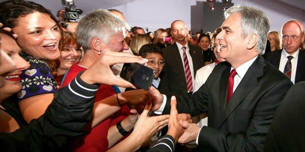 SPÖ-Parteitag: 84 Prozent für Faymann