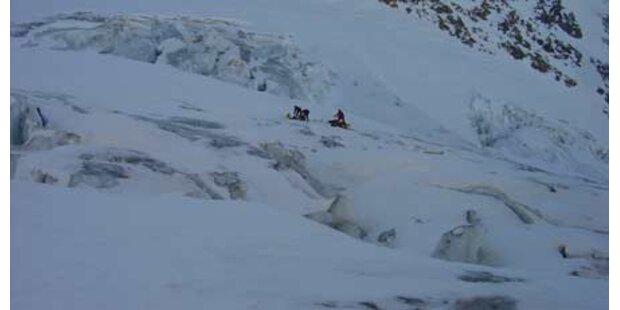 Deutscher fiel in Gletscherspalte