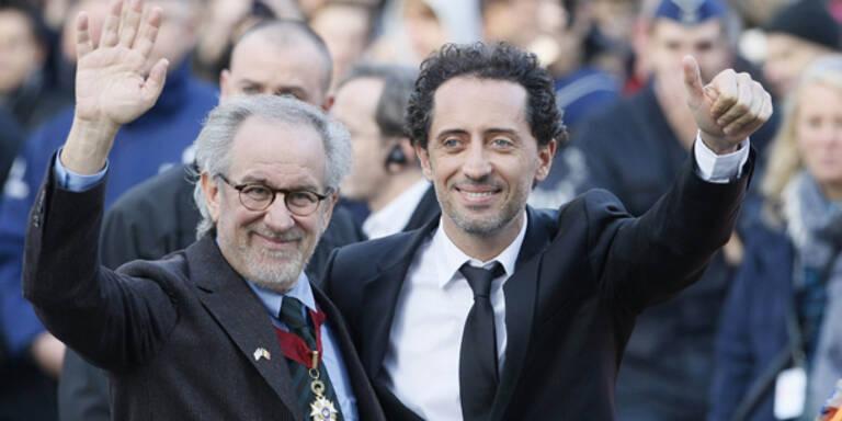"""Spielberg bei """"Tim und Struppi"""" Premieren"""